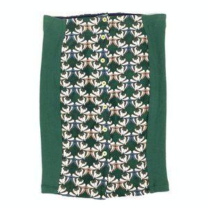 Dolan Anthro Devlin Floral ButtonDown Pencil Skirt